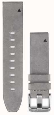 Garmin Correa de piel de ante gris quickfit 20mm fenix 5s 010-12491-16