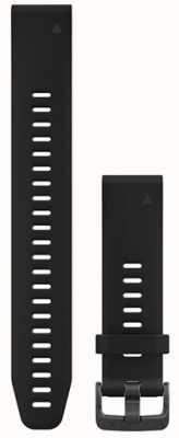 Garmin Correa de caucho negro grande quickfit 20mm fenix 5s 010-12739-07