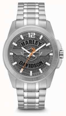 Harley Davidson Pulsera de acero inoxidable solo para hombres. 76B180