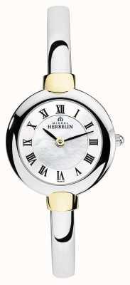 Michel Herbelin Reloj plateado para mujer | oro | esfera madre perla 17413/BT29