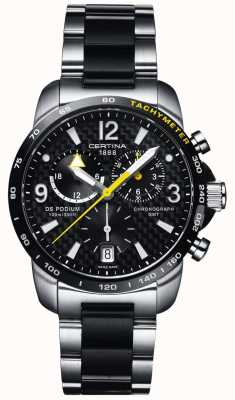 Certina Hombre ds podium gmt cronógrafo acero inoxidable negro carbono C0016392220701