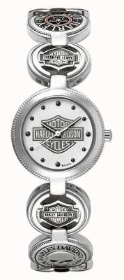 Harley Davidson Pulsera de mujer para mujer | acero inoxidable plateado 76L145