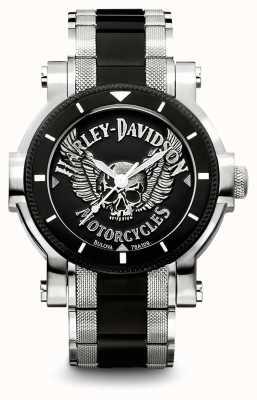 Harley Davidson Pulsera hombre acero bicolor | esfera negra 78A109