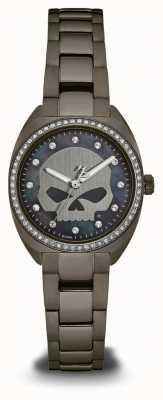 Harley Davidson Mujeres de la colección slick de aceite | dial de cristal | 78L124