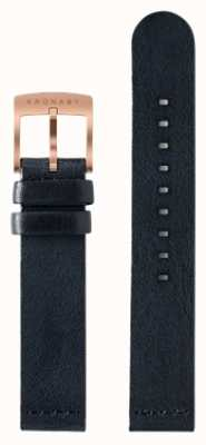 Kronaby Correa de cuero azul oscuro de 18 mm solamente A1000-0576