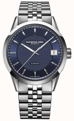 Raymond Weil Hombres | freelancer azul oscuro | reloj automatico 2740-ST-50021