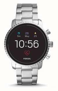 Fossil Conectado q explorista hr reloj inteligente acero inoxidable FTW4011