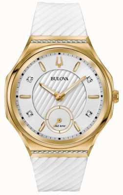 Bulova Pulsera mujer color plateado oro blanco plateado. 98R237