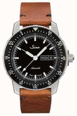 Sinn St sa i classic reloj piloto cuero vacuno vintage cuero 104.010-BL50205002401A