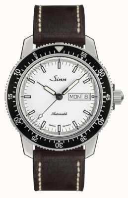 Sinn St sa iw clásico reloj piloto marrón claro piel vintage l 104.012-BL50202002007125401A