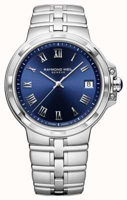 Raymond Weil Parsifal clásico reloj pulsera con esfera azul 5580-ST-00508