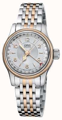 Oris Puntero original de gran corona fecha reloj de dama 29mm. 01 561 7695 4361-07 8 14 32