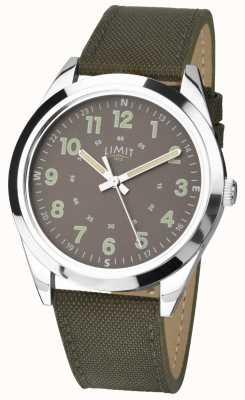 Limit Caballeros Reloj estilo militar | correa de color caqui verde y esfera verde 5951