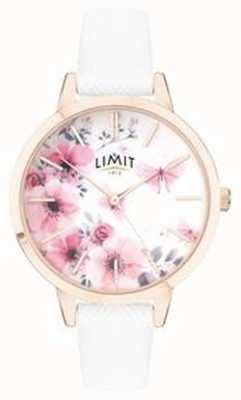 Limit | reloj de jardín secreto para mujer | esfera floral rosa y blanco | 60021