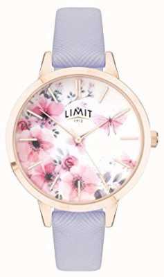 Limit | reloj de jardín secreto para mujer | esfera rosa y blanca | strp púrpura 60022