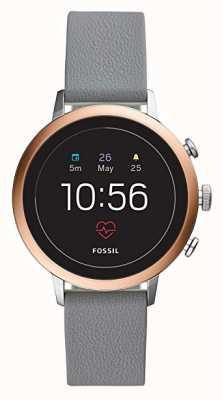 Fossil Connected q venture hr reloj inteligente gris correa de silicona FTW6016
