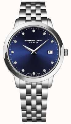 Raymond Weil Tocata para mujer | esfera azul | pulsera de acero inoxidable 5988-ST-50081