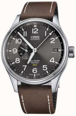 ORIS Big crown propilot gmt small seconds 45 mm reloj para hombre 01 748 7710 4063-07 5 22 05FC