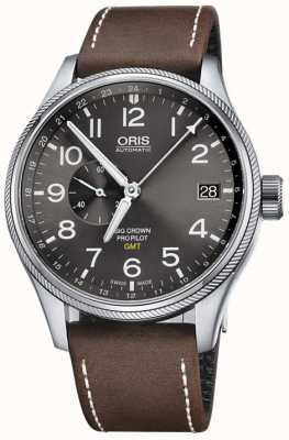 Oris Big crown propilot gmt small second 45mm reloj para hombre 01 748 7710 4063-07 5 22 05FC