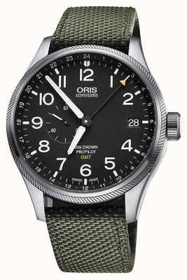 Oris Gran corona de piloto automático gmt segundos segundos reloj para hombre de 45 mm. 01 748 7710 4164-07 5 22 14FC