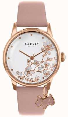 Radley Mujer | flor de cola correa de cuero rosa RY2692