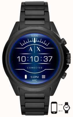 Armani Exchange Drexler negro | acero inoxidable | reloj inteligente AXT2002