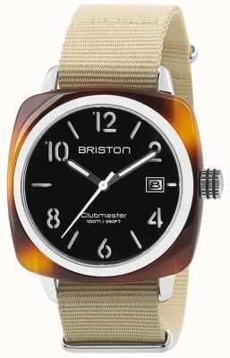 Briston Hms fecha acero 40 acetato de tortuga esfera negra 13240.SA.T.1.NK