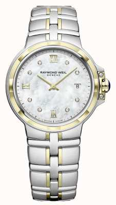 Raymond Weil Parsifal para mujer | esfera de diamantes | Dos tonos 5180-STP-00995