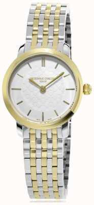 Frederique Constant | mujer | dos tonos slimline | reloj de metal | FC-200WHS3B