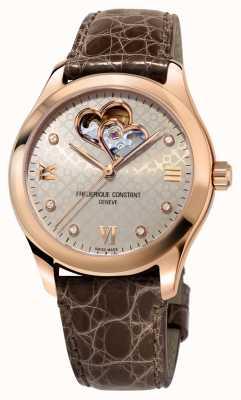 Frederique Constant | mujer | corazon automatico | tono oro rosa FC-310LGDHB3B4