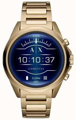 Armani Exchange Pantalla táctil smartwatch conectada oro pvd plateado AXT2001