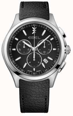 EBEL | reloj cronógrafo para hombre | correa de cuero negro | 1216343
