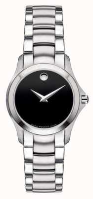Movado | reloj de acero militar para mujer | esfera negra | 0605870