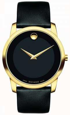 Movado | reloj clásico para hombre museo | cuero negro | 0606876
