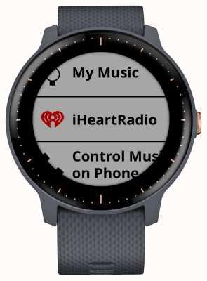 Garmin Vivoactive 3 música hr gps granito azul rosa oro reloj inteligente 010-01985-32