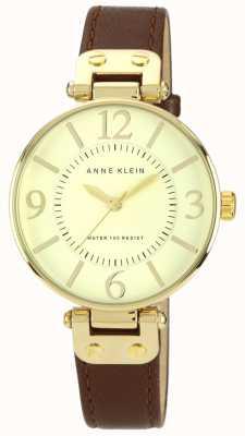 Anne Klein | reloj chelsea para mujer | dorado y marron | 10-N9168IVBN