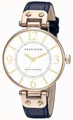 Anne Klein | reloj chelsea para mujer | cuero azul marino | 10-N9168RGNV