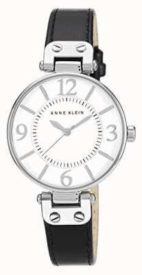 Anne Klein | reloj chelsea para mujer | cuero negro | 10-N9169WTBK