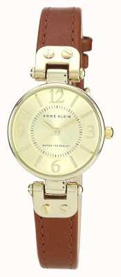 Anne Klein | reloj manhattan para mujer | cuero bronceado | 10-N9442CHHY