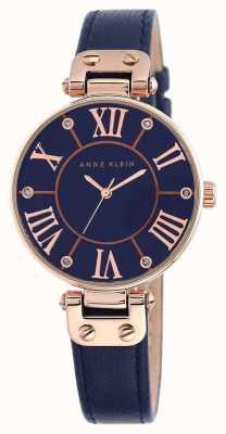 Anne Klein | reloj de mujer de la firma | cuero azul marino | 10-N9918RGNV