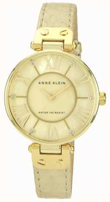 Anne Klein | reloj de mujer de la firma | cuero crema | AK-N1012GMGD