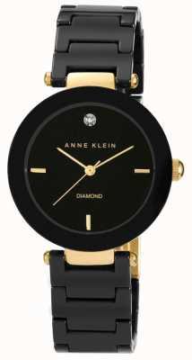Anne Klein | mujer alice | reloj pulsera de ceramica negra AK-N1018BKBK