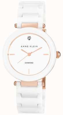 Anne Klein | mujer alice | Reloj pulsera de ceramica oro blanco AK-N1018RGWT