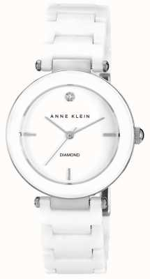 Anne Klein | mujer alice | reloj pulsera de ceramica blanca AK-N1019WTWT