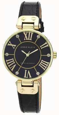 Anne Klein | reloj de mujer de la firma | negro y oro | AK-N1396BMBK
