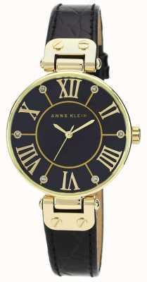 Anne Klein | reloj de mujer de la firma | negro y oro | AK/N1396BMBK
