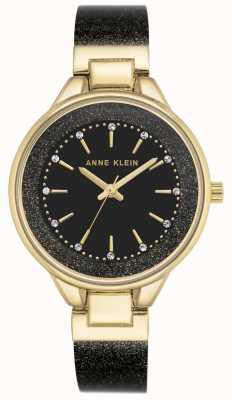Anne Klein | reloj clásico para mujer | negro y oro | AK-N1408BKBK