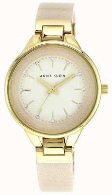 Anne Klein | reloj clásico para mujer | crema y oro | AK-N1408CRCR