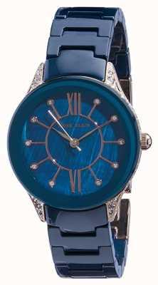 Anne Klein | reloj de cerámica azul marino para mujer | AK-N2388RGNV
