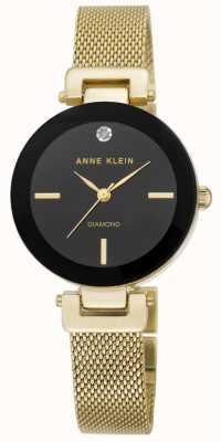 Anne Klein | mujer amelia | Reloj pulsera de malla dorada | AK-N2472BKGB